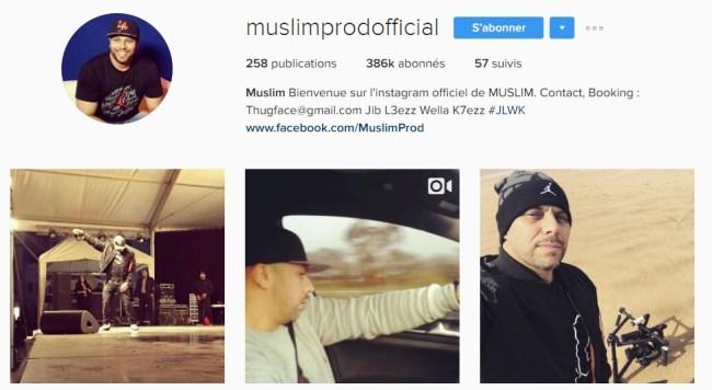 Instagram de Muslim - Rap Maroc 2017