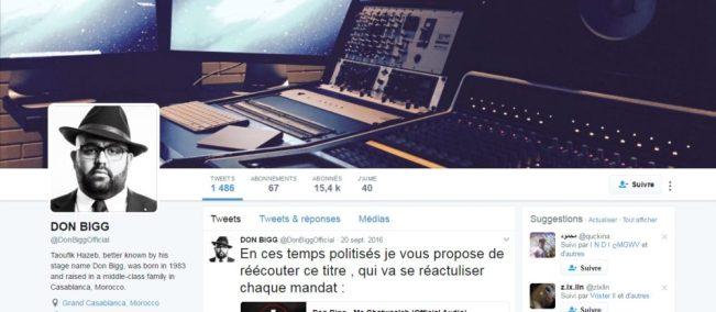 Twitter de Don Bigg - Rap Maroc 2017