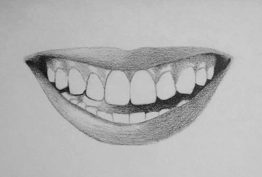 kak-narisovat-ulybku-5 Как нарисовать улыбку у основания. Как нарисовать улыбку карандашом поэтапно? Как красиво нарисовать губы в улыбке? Как нарисовать улыбку