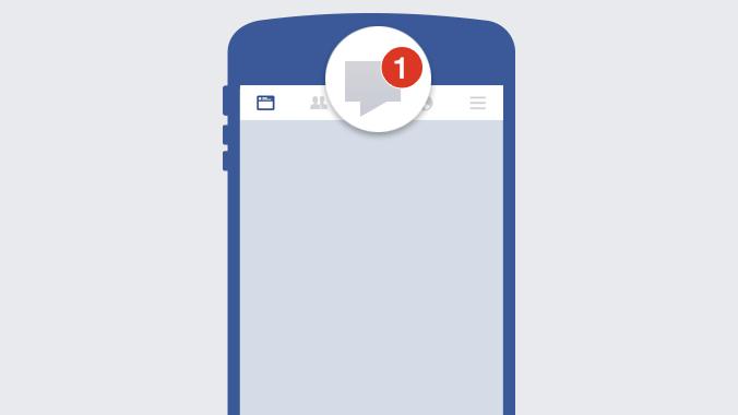Posteingang für Facebook-Nachrichten