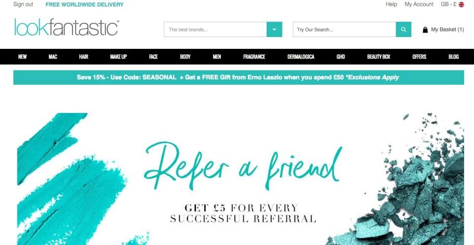 Look fantastic coupon code