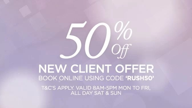 Receive 50 Off Your First Visit To A Rush Hair Salon