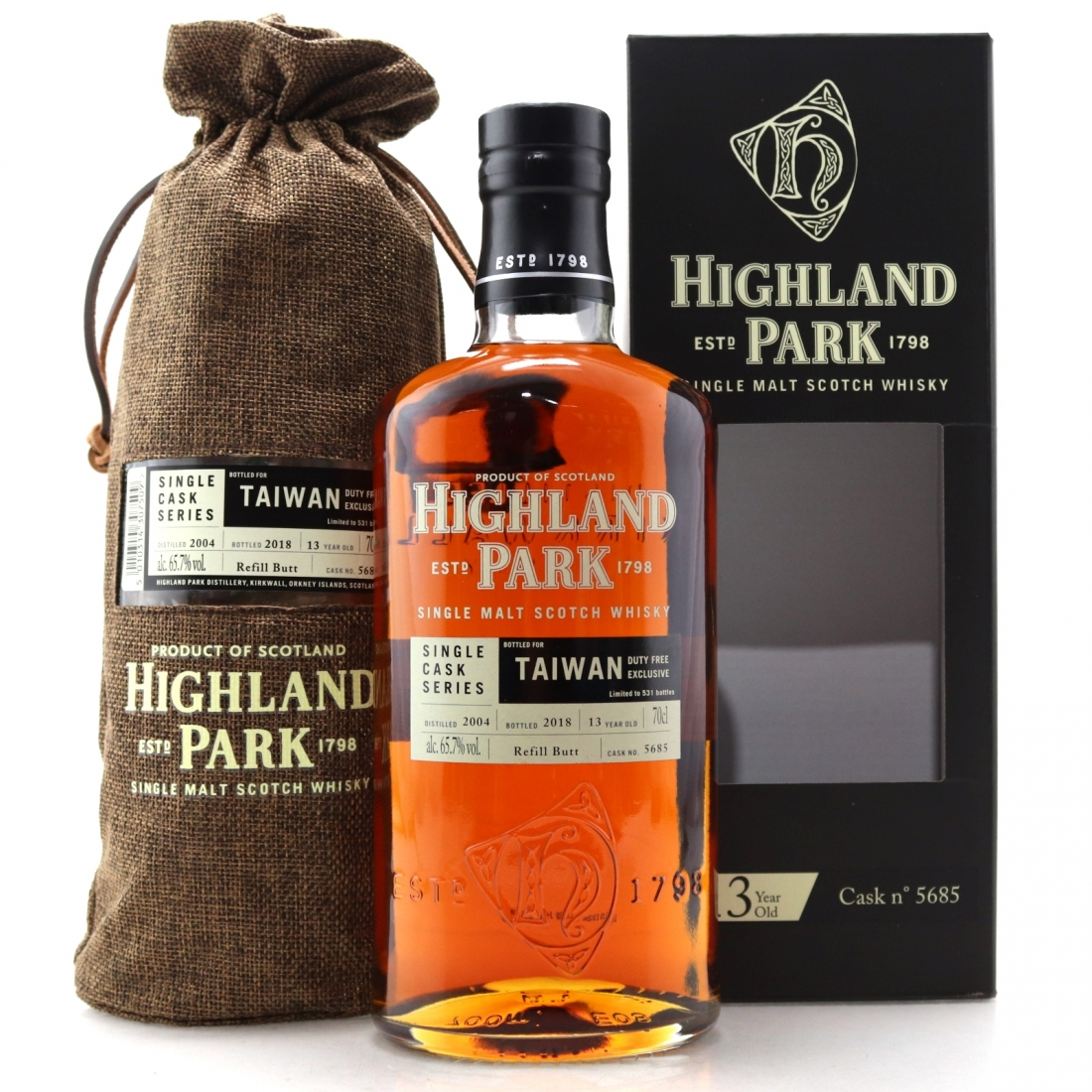 Highland Park 2004 Single Cask 13 Year Old #5685 / Taiwan Duty Free   Whisky Auctioneer