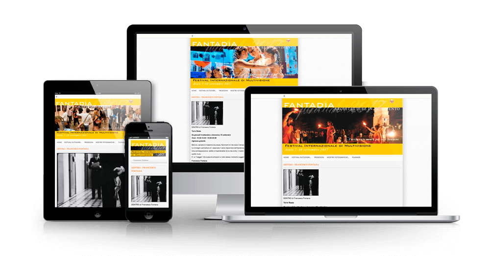 Responsive website for the Fantadia Festival