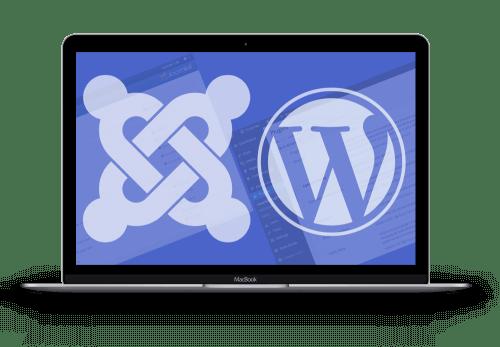 Website design for Joomla and WordPress