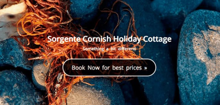 Sorgente Cornish Holiday Cottage website