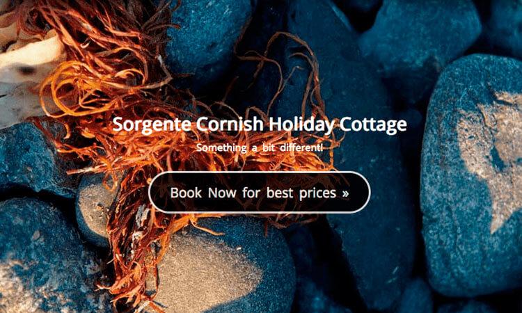 Sorgente Cornish Holiday Cottage website