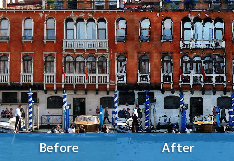 【Photoshop】簡単に写真を水彩画風に加工する方法のサムネイル