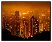 hong kong, from The Peak at night