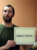 Step 2 of condom use: erection