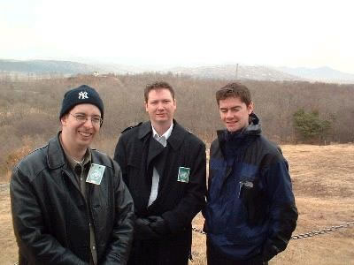 Brant, myself, and Ross with North Korea in the background
