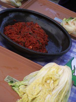 Kimchi making ingredients