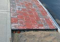Brick Pathway being Installed