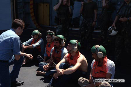 Waiting aboard the <i>La Salle</i> during Operation Prime Chance, a part of the U.S. Navy's Operation Earnest Will.