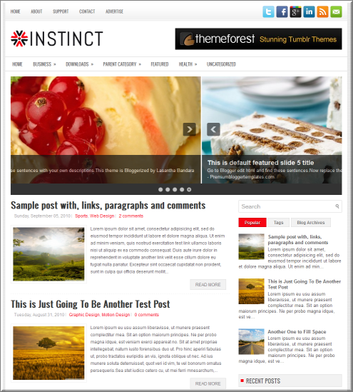 Instinct blogger template
