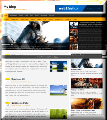 Falcon Magazine WordPress Theme