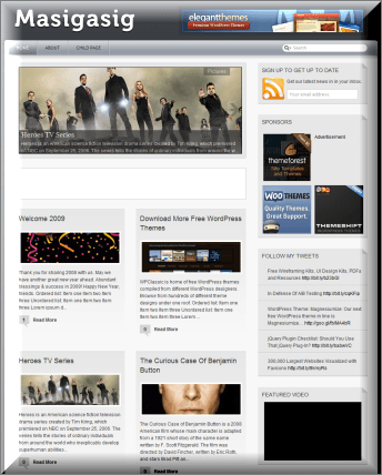 Masigasig Black Magazine WordPress Theme
