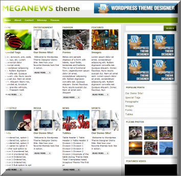MegaNews Magazine WordPress Theme