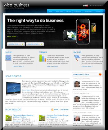 Wise Business Magazine WordPress Theme