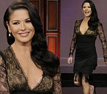 Catherine Zeta-Jones during an interview on the Tonight Show with Jay Leno