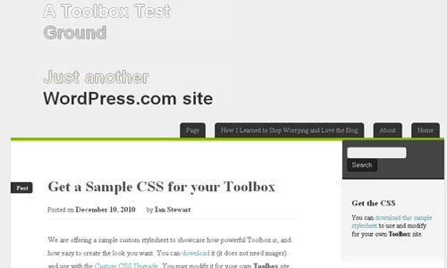 Toolbox HTML5 Free WordPress Theme 10 Free HTML5 WordPress Themes