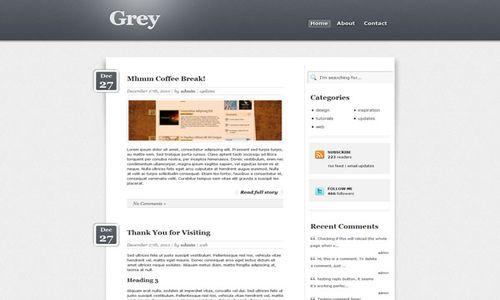 css3 grey html5 free wordpress theme 10 Free HTML5 WordPress Themes
