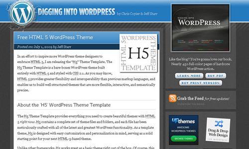 html 5 wordpress theme 10 Free HTML5 WordPress Themes