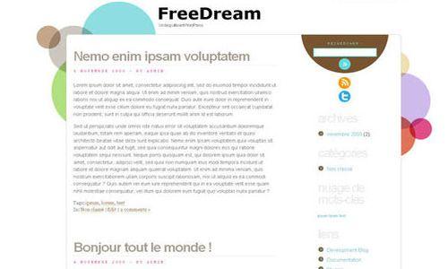 Dream HTML5 Free WordPress Theme 10 Free HTML5 WordPress Themes