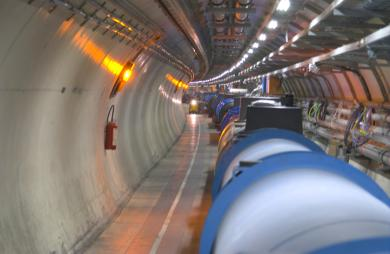 View of the LHC tunnel