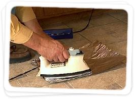 install vinyl floor tile