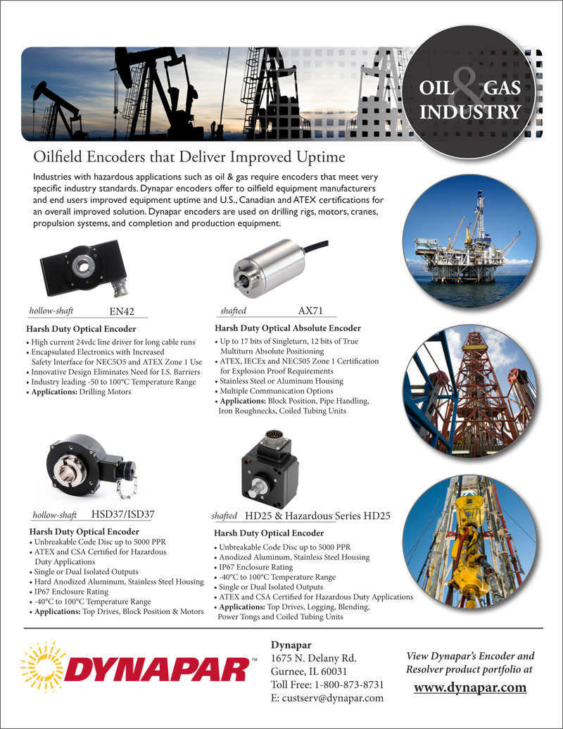 Oil and Gas Industry Product Sheet 1_28_13