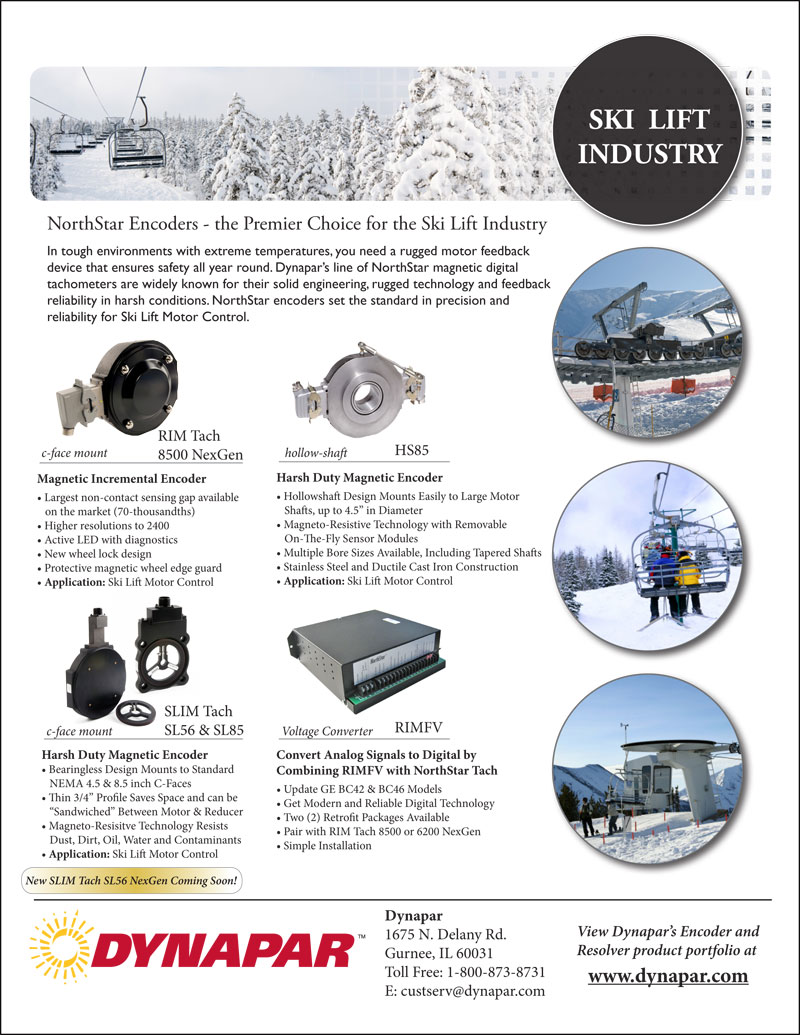 Ski Lift Industry Product Sheet