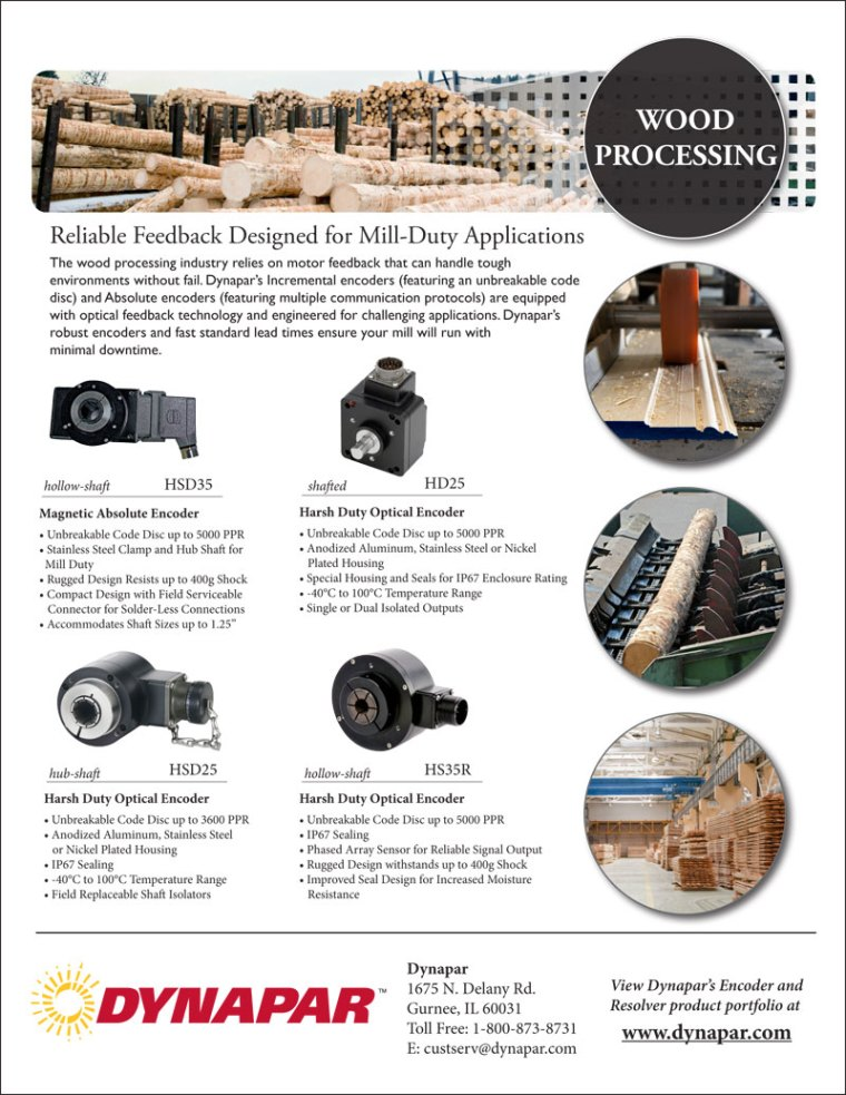 Wood Processing Industry Product Sheet