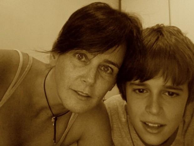 Milly e o sobrinho Paulo
