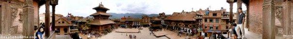 Bhaktapur panaroma Nyatpola Nepal