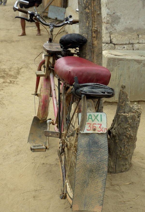 マダガスカルの自転車タクシー