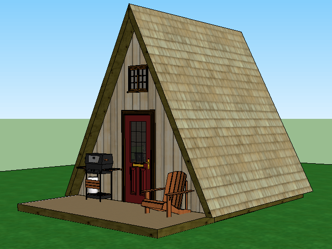 Tiny house plans – A Frame Jeffrey The Natural Builder