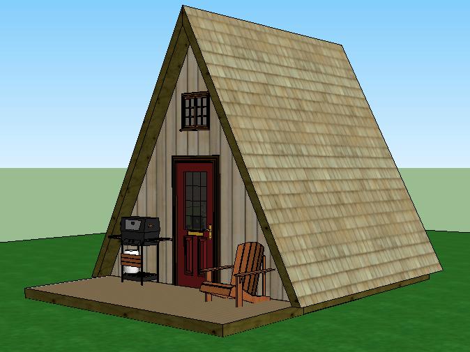 Tiny house plans – A Frame - Jeffrey The Natural Builder