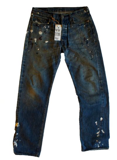 Japanese Crush processing. . Design Kenneth buddha Jeans