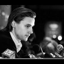 Karlsson speaking to the media