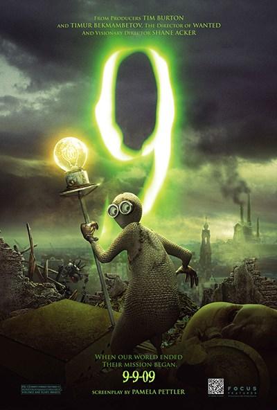 O poster do filme retrata 9 com a lanterna elétrica. Note-se que a data de lançamento do filme foi 09-09-09, um aceno para a numerologia ocultismo e um dos muitos flirts do filme com o número da besta, 666.