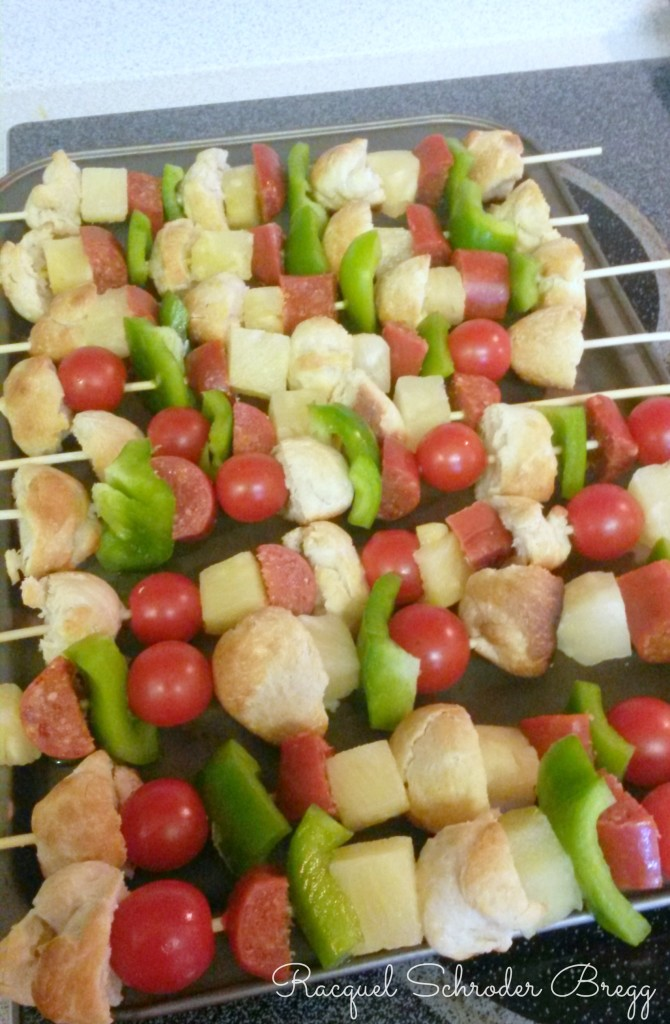 pizza kabobs ready to bake