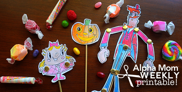 Candy Crush Printable Puppets