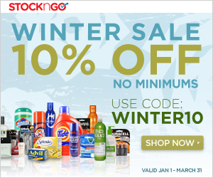Pick up all your health and beauty essentials and save 10% off all orders with promo code WINTER10 at Stockngo.com! (Exclusions: Buy the Case, Gift Cards, and Quantity Discounts) Valid until 03/31/2014