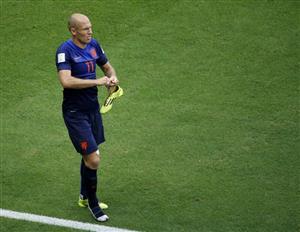 Arjen Robben krijgt knoop niet uit zijn veter