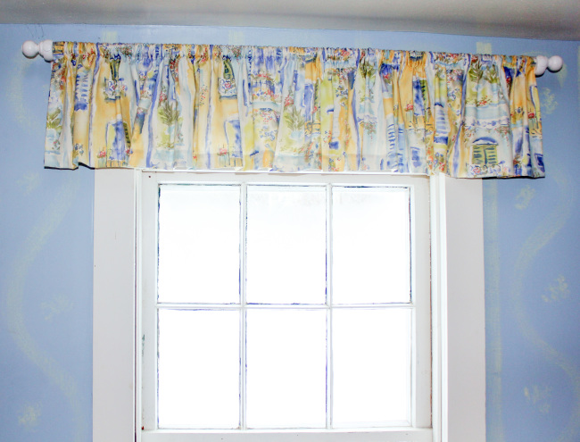 Blue and Yellow Valance