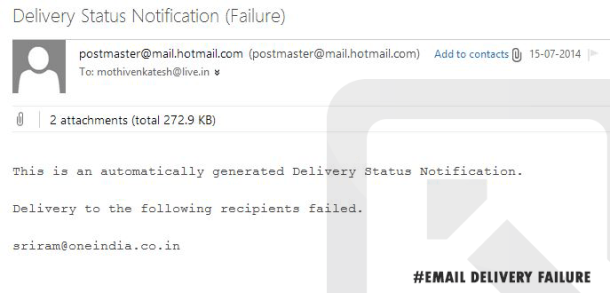 Email Delivery Failure Notification: Finding CEO Email id's.