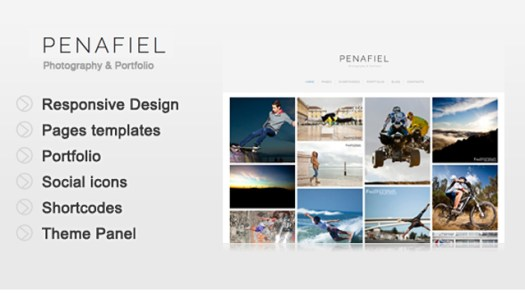 penafiel WordPress grid layout theme portfolio