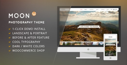 moon wordpress photographers theme