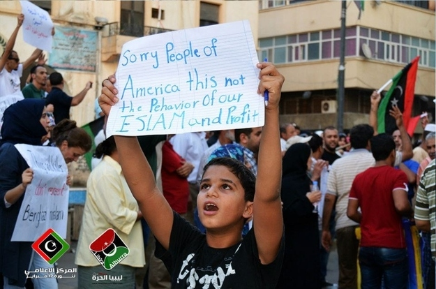7. A Libyan child who doesn't believe in hate.
